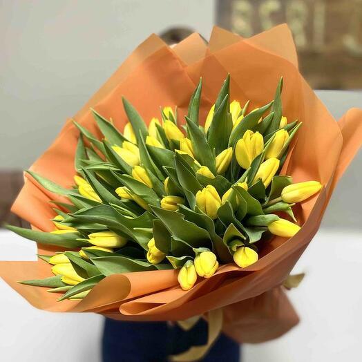 Букет из тюльпанов «Лучи солнца»