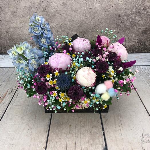 Цветы в конверте « Пион «