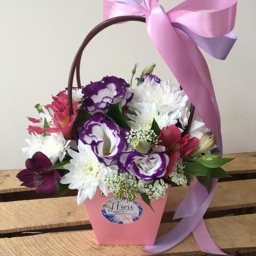 Цветы в коробке Летний день