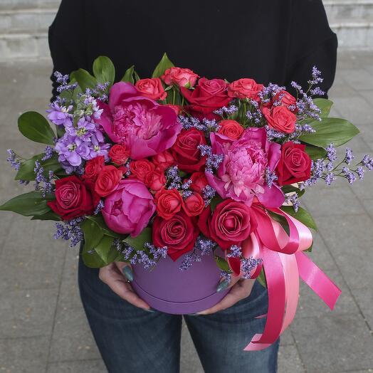 Коробка с цветами «Милая Барбара»