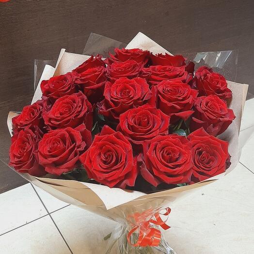 Роза 19 шт ЭКВАДОР ПРЕМИУМ КЛАССА