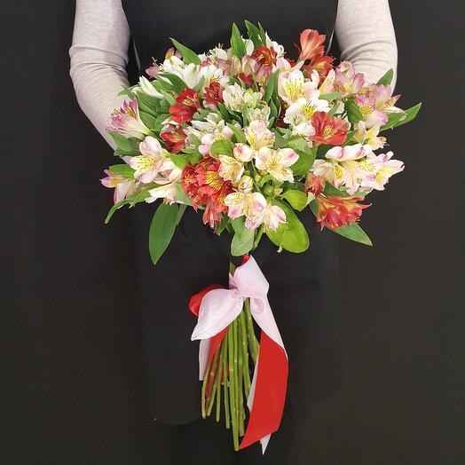 Bouquet of 17 alstroemeria 65 cm