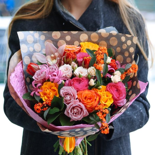 Стиль красок: букеты цветов на заказ Flowwow