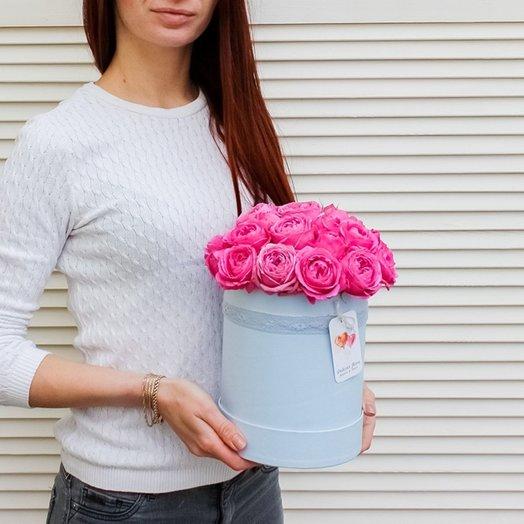 Мисти баблс в голубой коробочке: букеты цветов на заказ Flowwow