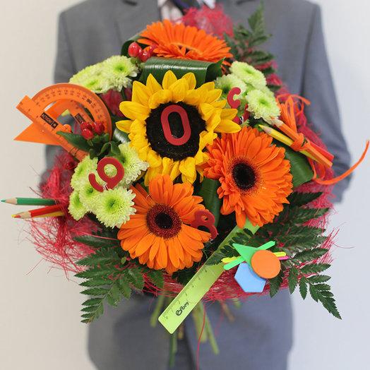Букет в школу мальчику: букеты цветов на заказ Flowwow