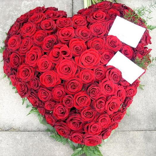 Сердце из красных роз Ред Наоми