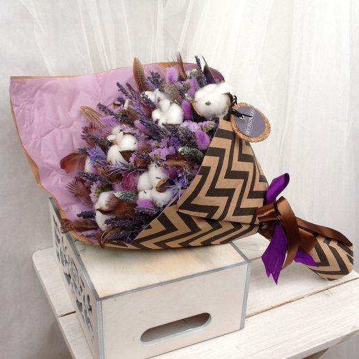 Лавандово-хлопковый букет: букеты цветов на заказ Flowwow