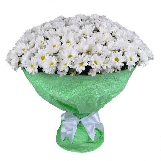 Букет из 51 кустовой хризантемы.: букеты цветов на заказ Flowwow