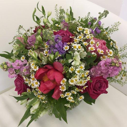 Букет с пионами : букеты цветов на заказ Flowwow