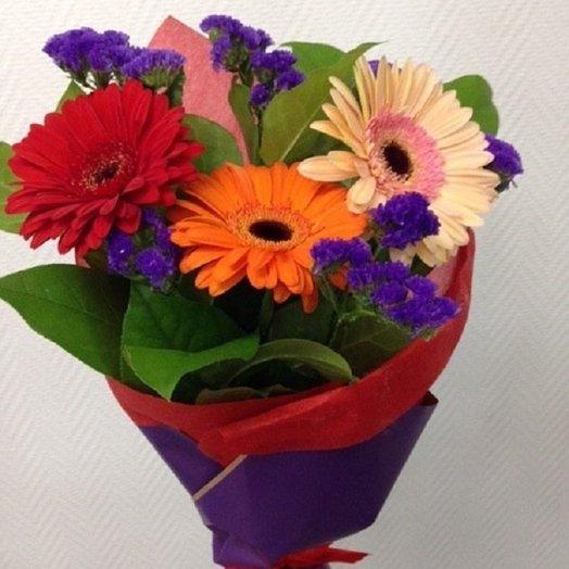 Яркий букет с герберами: букеты цветов на заказ Flowwow