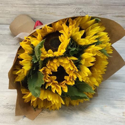 Подсолнухи: букеты цветов на заказ Flowwow