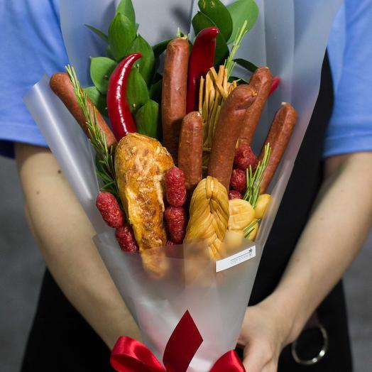 Женский букет из колбасы 18: букеты цветов на заказ Flowwow