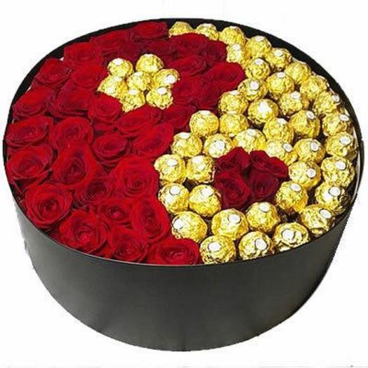 КОМПОЗИЦИЯ «ИНЬ ЯНЬ»: букеты цветов на заказ Flowwow