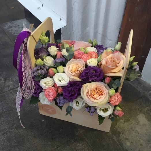 Бокс с цветами 8: букеты цветов на заказ Flowwow