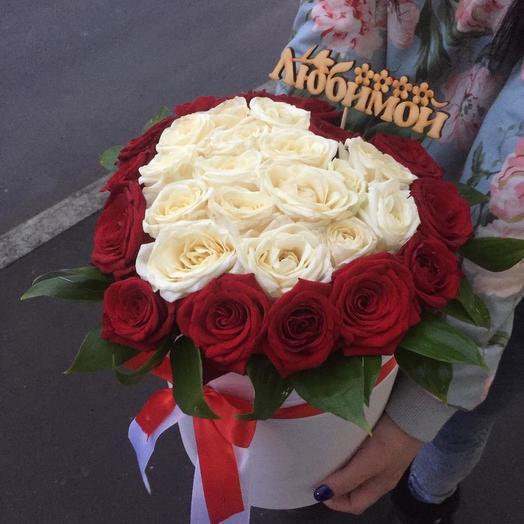 Розы в форме сердца: букеты цветов на заказ Flowwow