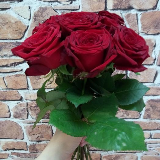Красные розы, 9 шт: букеты цветов на заказ Flowwow