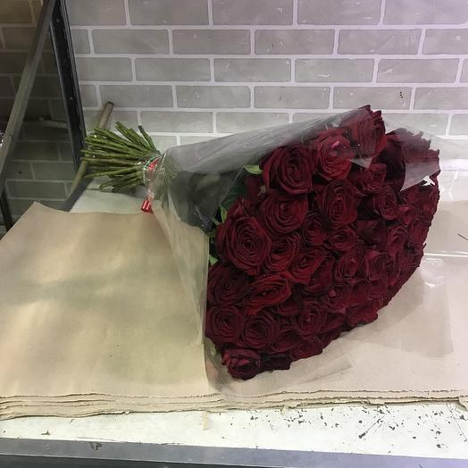 Страсть из 51 розы 80 см: букеты цветов на заказ Flowwow