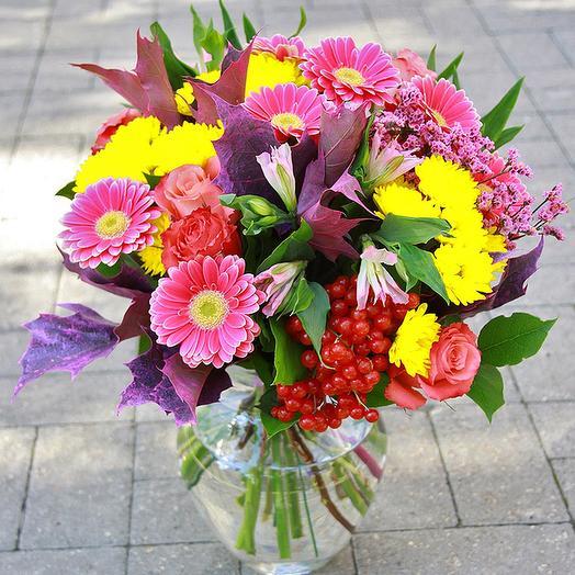 Букет с герберами 2: букеты цветов на заказ Flowwow
