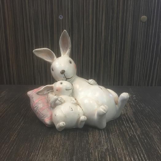 Кролик Папа с малышом: букеты цветов на заказ Flowwow