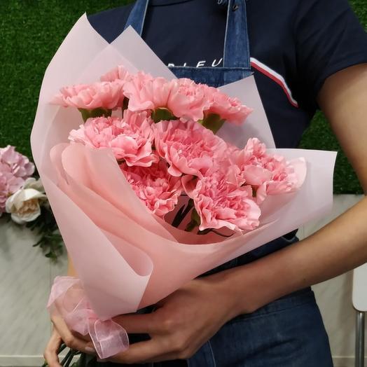 Моно розового диантуса: букеты цветов на заказ Flowwow