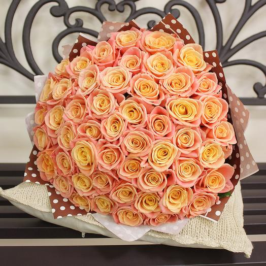 Букет Марлен 51 роза - 50 см