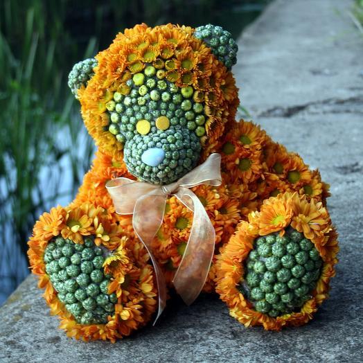 Цветочный мишка: букеты цветов на заказ Flowwow