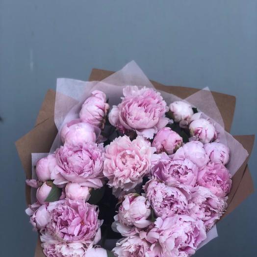 Пионы 29 шт: букеты цветов на заказ Flowwow
