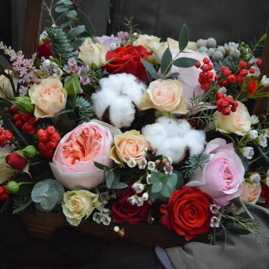 """Цветы в ящике """"Сказочное время"""": букеты цветов на заказ Flowwow"""