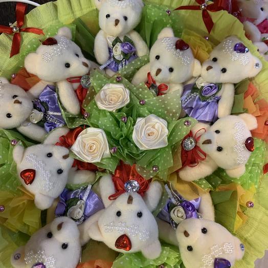 Букет из мишек: букеты цветов на заказ Flowwow