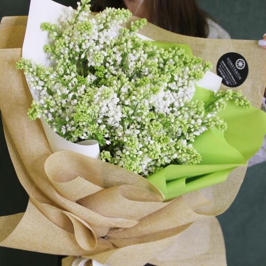 Белое облако сирени: букеты цветов на заказ Flowwow