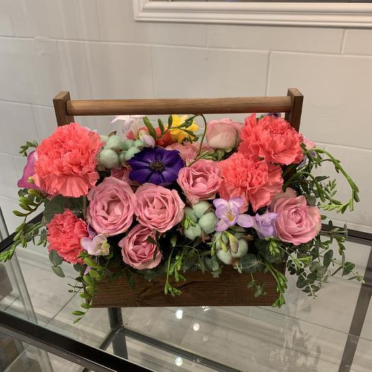 Ящик сокровищ: букеты цветов на заказ Flowwow