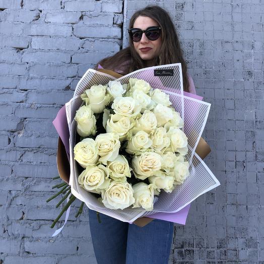 Голландские розы 60 см: букеты цветов на заказ Flowwow