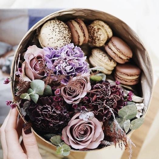 """Коробка с цветами """"Рапсодия"""""""