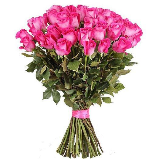 Букет из 51 Розовой Розы Топаз 50см: букеты цветов на заказ Flowwow