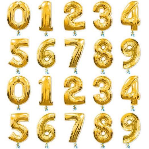 Шар-цифра «GOLD» в ассортименте: букеты цветов на заказ Flowwow