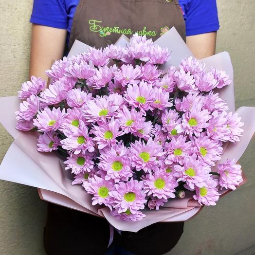 A bouquet of 9 chrysanthemums