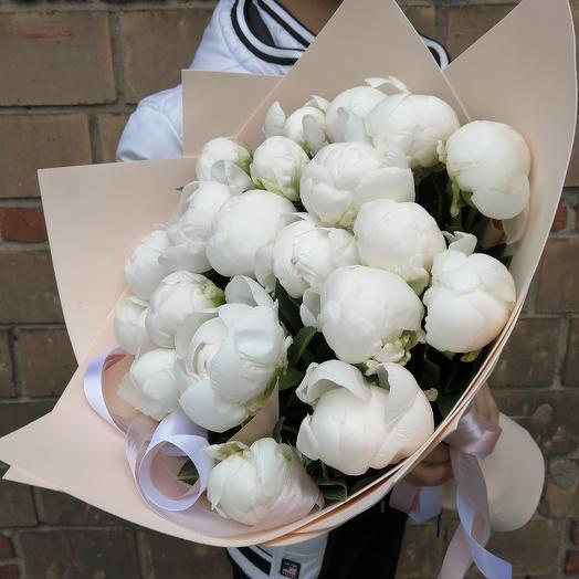 Пионы шикарные: букеты цветов на заказ Flowwow
