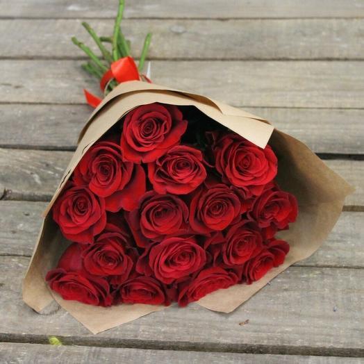 Розы 15 шт Эквадор премиум класса 80 см
