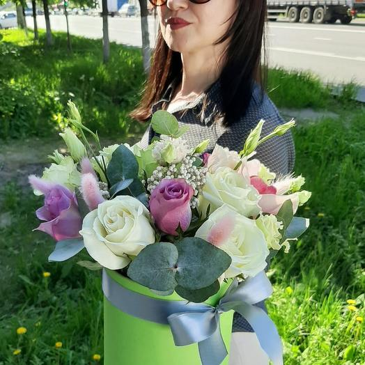 "Розы в коробке ""Летний день"""