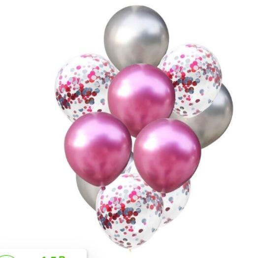 Цветные латексные шары воздушные шары с конфетти 18