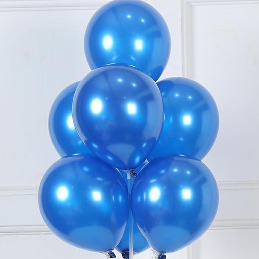 """Букет из 7 шаров """"Синий перламутр"""""""