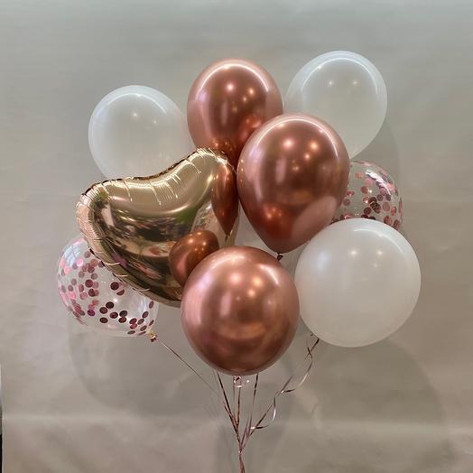 Сет «Люблю», розовое золото