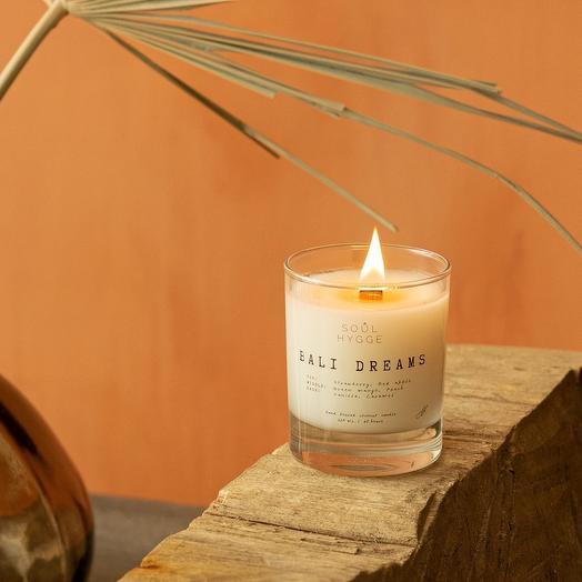 Свеча BALI DREAMS 225мл с деревянным фитилём