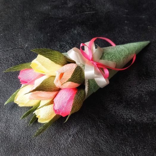 Тюльпаны с конфетами Осенний вальс