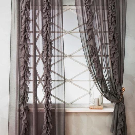 Комплект штор Иви Серый, 140х270 см - 2 шт