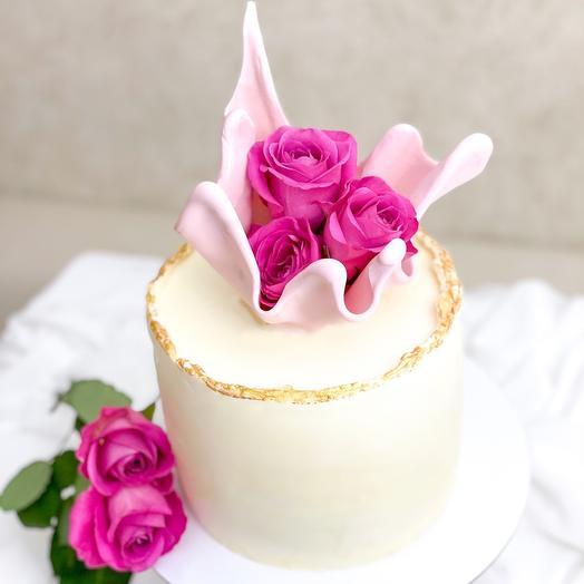 Торт «Розы в вазе»
