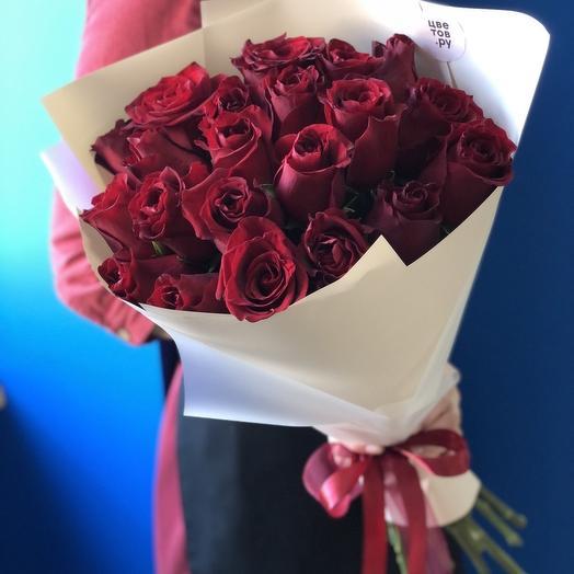 21 роза Премиум в стильном оформлении