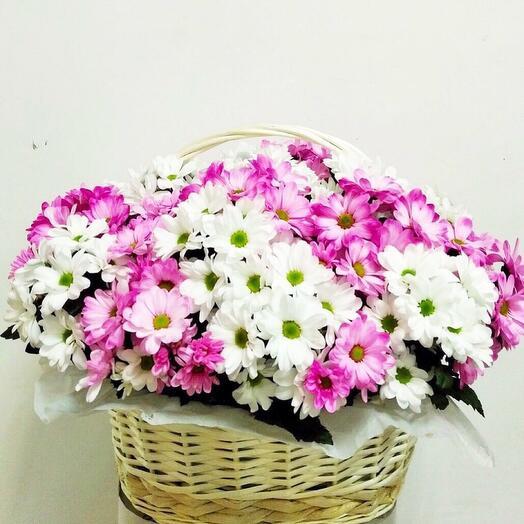 Корзина pink and white