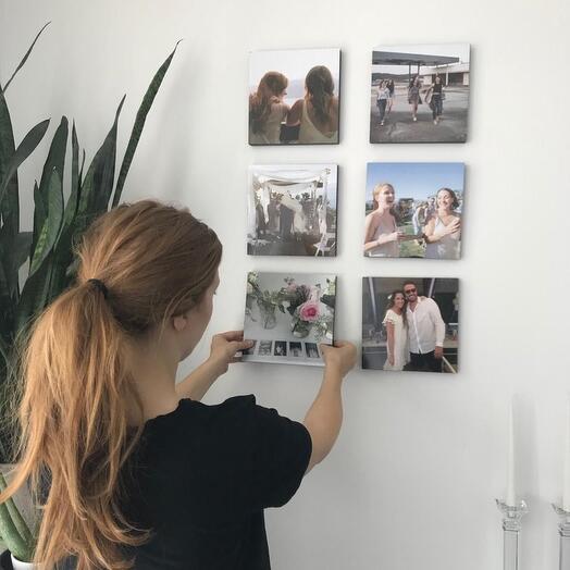 Набор из 6 самоприкрепляющихся картин Photoframe 20х20 см