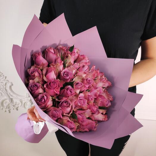 Букет из 35 Лавандовых роз